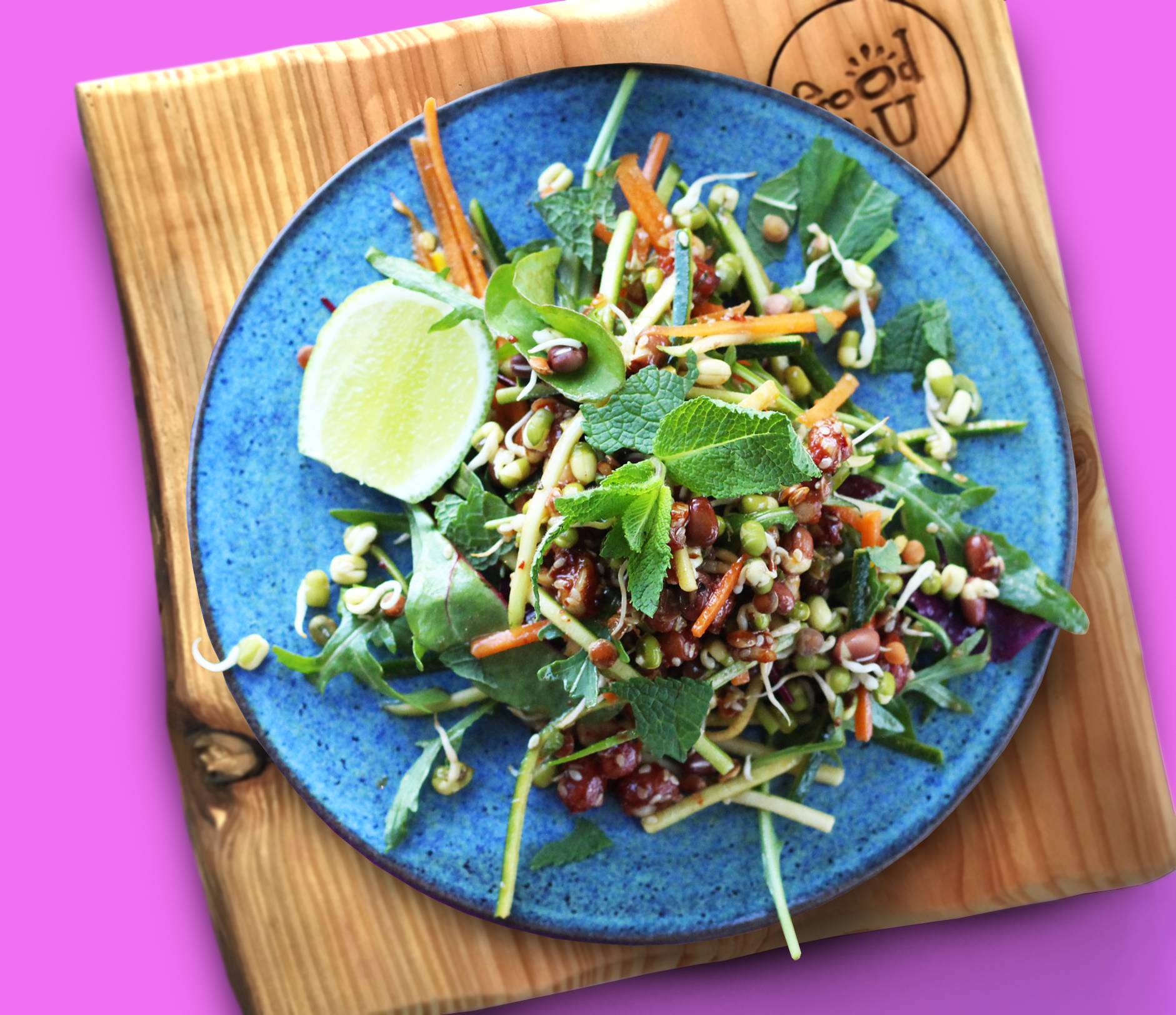 Asian Style Peanut and Sprout Salad